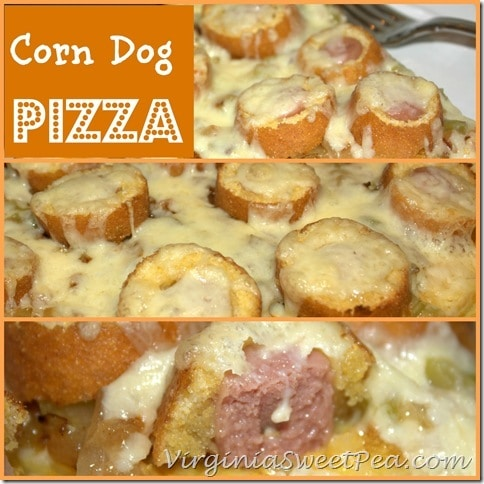 Corn Dog Pizza by virginiasweetpea.com#GetCorny #cbias