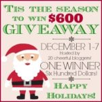 """Tis the Season for Cheer"" $600 Visa Gift Card Giveaway"
