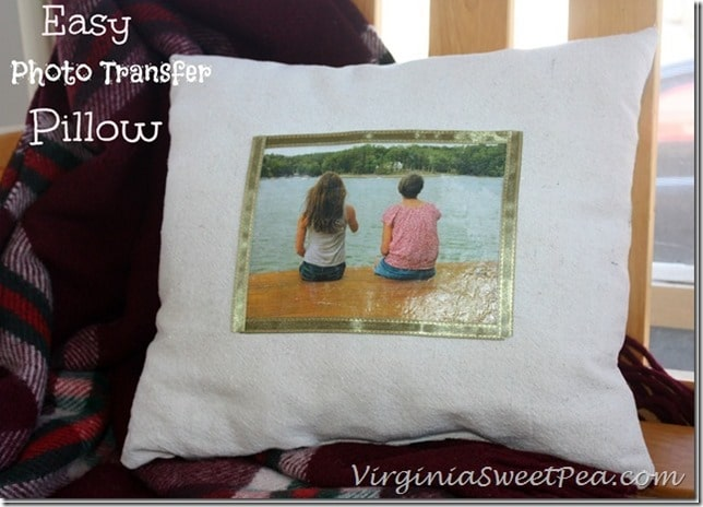 Easy-Photo-Transfer-Pillow-Using-Mod-Podge-Photo-Transfer-Medium by virginiasweetpea.com by virginiasweetpea.com