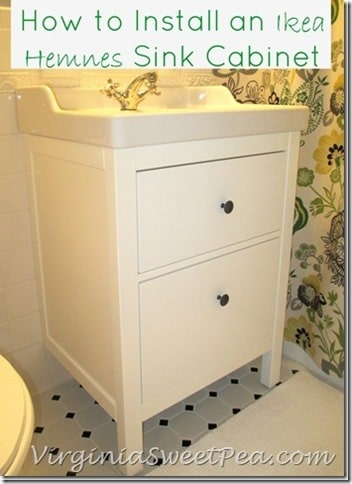 How-to-Install-an-Ikea-Hemnes-Sink-Cabinet by virginiasweetpea.com