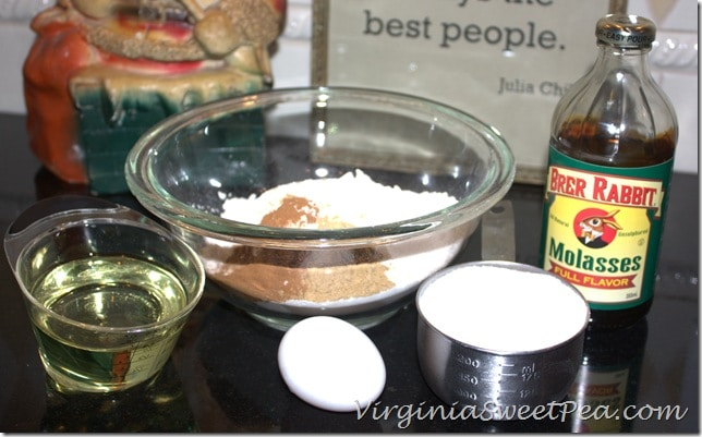 Iced Ginger Cookies Ingredients