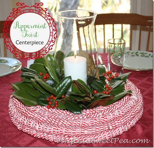 Peppermint Centerpiece by virginiasweetpea.com