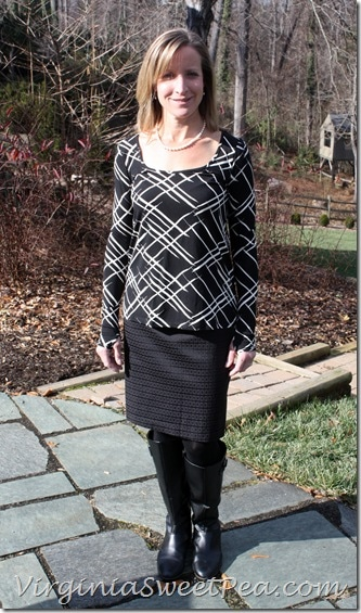 Stitch Fix Black Shirt and Black Skirt