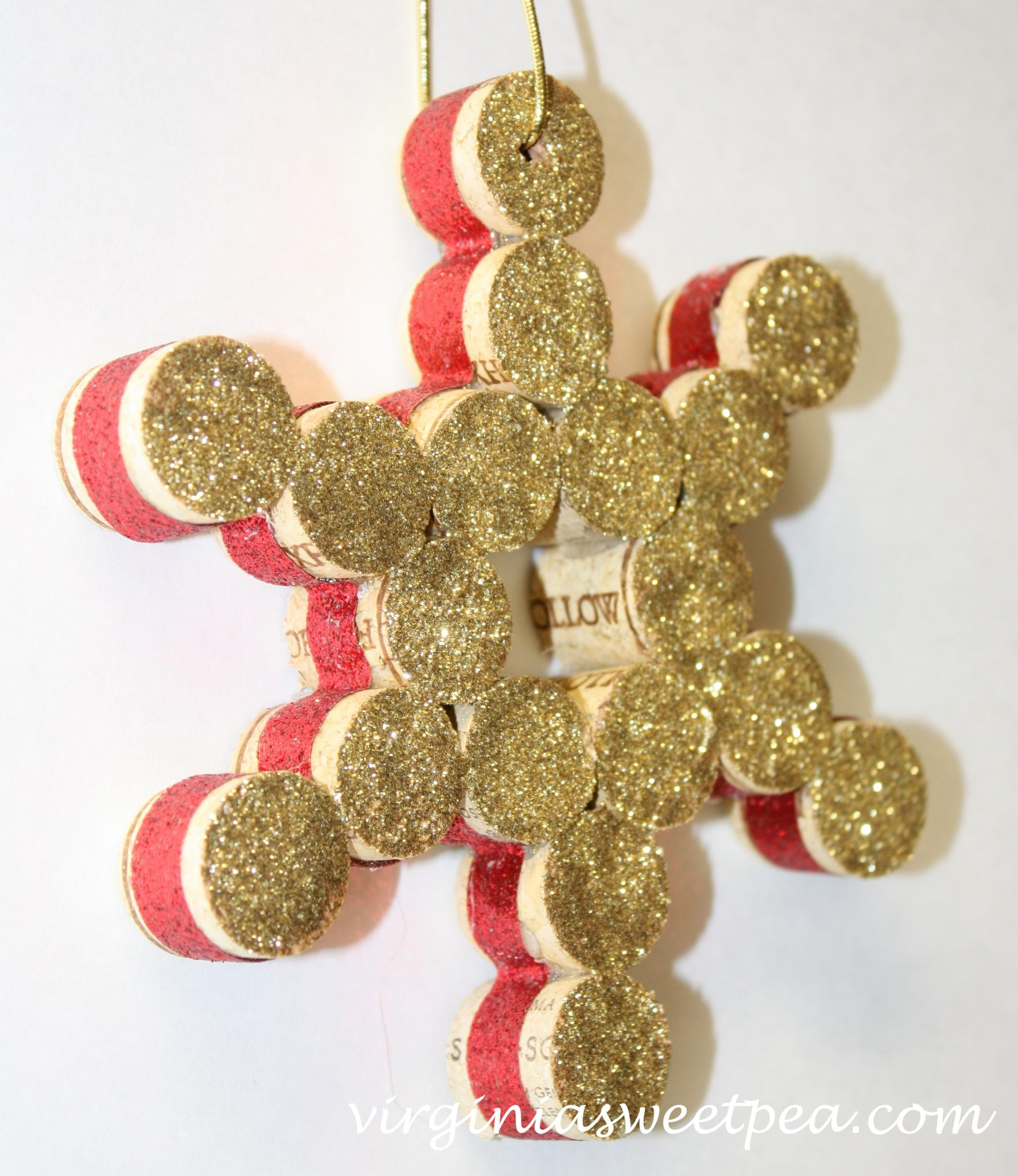 Wine Cork Ornament by Virginia Sweet Pea
