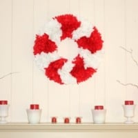 Red and White Valentine Mantel
