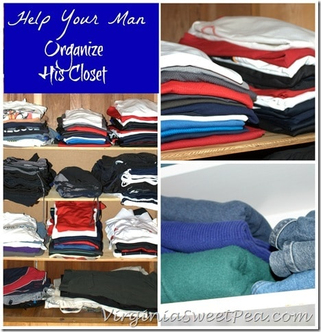 Help Your Man Organize His Closet