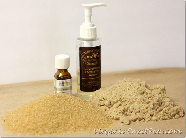 Ingredients for Brown Sugar Scrub by virginiasweetpea.com