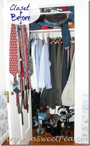 Mr. SP's Closet Before