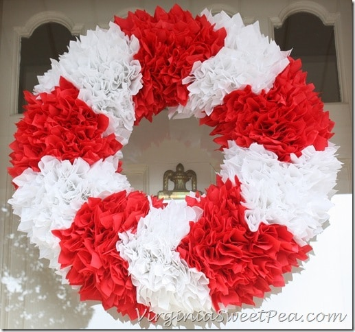 Paper Napkin Chevron Wreath
