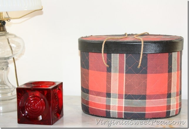 Red Tartan Sewing Box