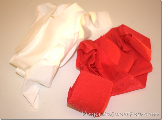 Red and White Lycra Trim Strips
