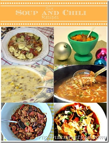 Six Soup and Chili Recipes