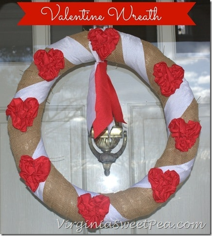Valentine Wreath by virginiasweetpea.com