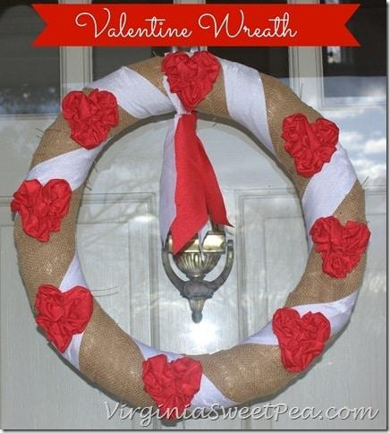 Valentine Wreath by virginiasweetpea.com