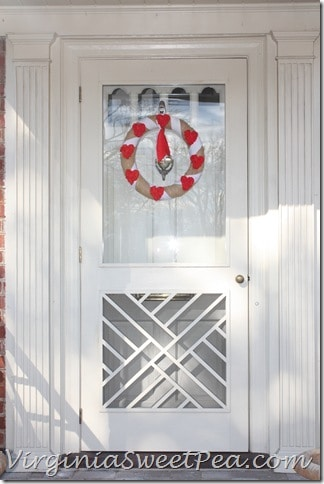 Valentine Wreath on Chippendale Door