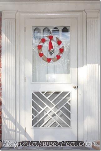 Valentine Wreath on Chippendale Door