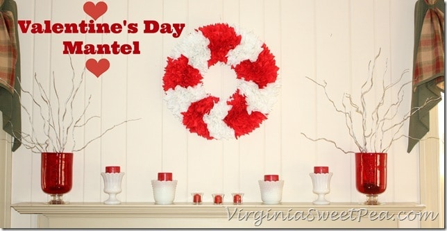 Valentine's Day Mantel by virginiasweetpea.com