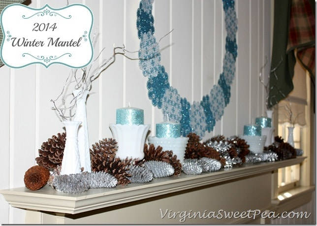 Winter Mantel by virginiasweetpea.com