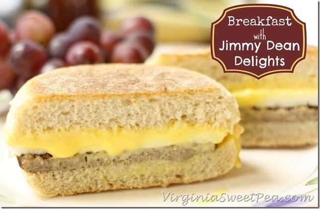 Breakfast with Jimmy Dean Delights by virginiasweetpea.com