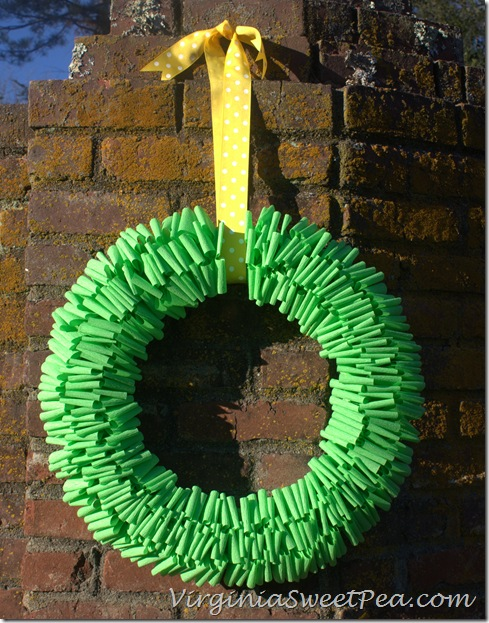 Crepe Paper Wreath for Spring