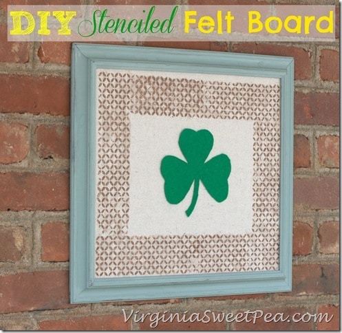 DIY Stenciled Felt Board by virginiasweetpea.com