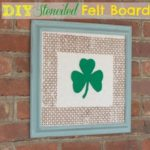 DIY Stenciled Felt Board and a Giveaway!