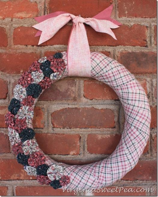 Yo-Yo Wreath for Spring