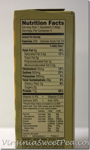 Jimmy Dean Delights Nutritional Facts