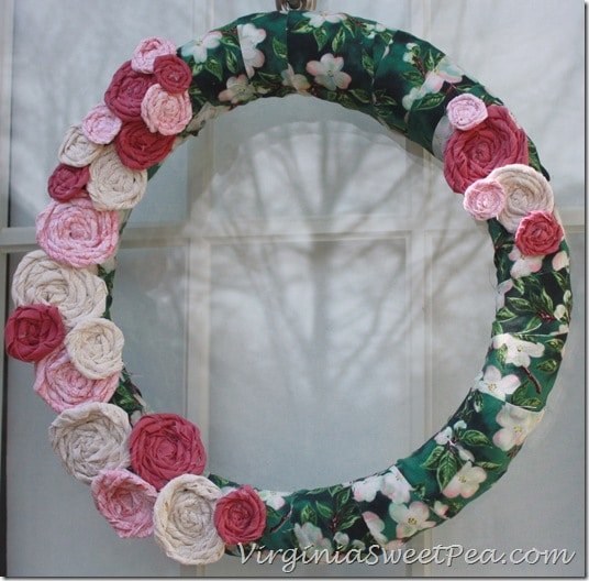 Rolled Flower Spring Wreath