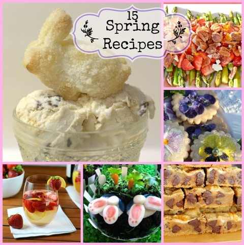 15 Spring Recipes by virginiasweetpea.com