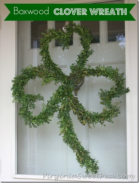 Boxwood Clover Wreath by virginiasweetpea.com