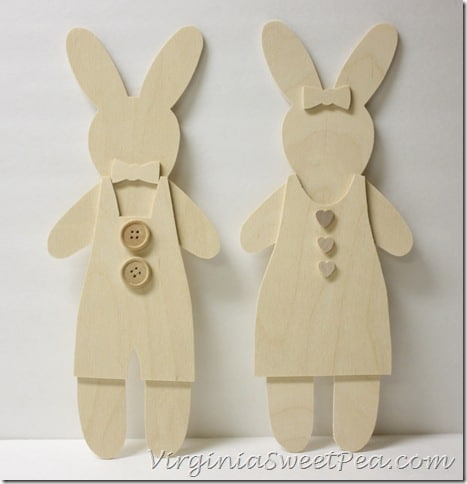 Unpainted Wooden Cutout Bunnies