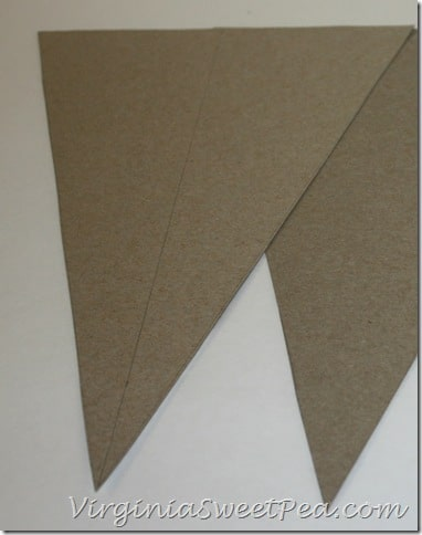 Cereal Box Pennant How to