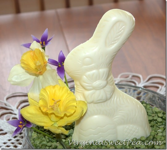 Easter Centerpiece with Chocolate