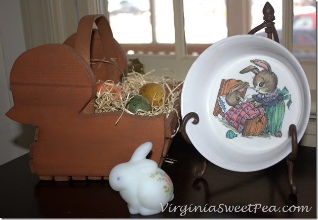 Easter Vignette with German Marble Eggs