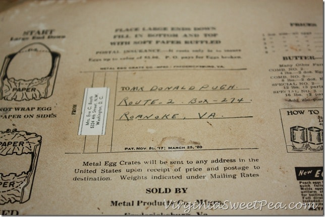 Vintage Egg Shipping Label