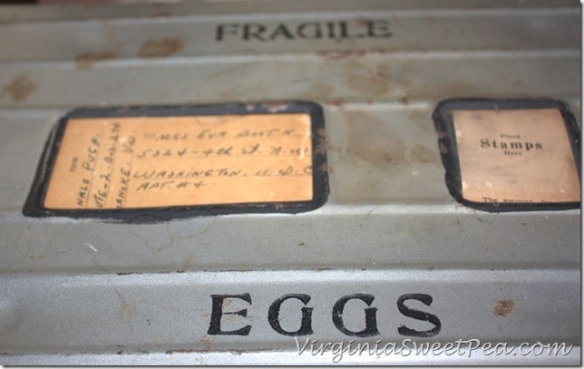 Vintage Egg Shipping Carton