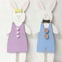 Handpainted  Bunny Rabbits