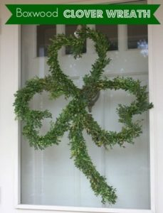 Boxwood Clover Wreath for St. Patrick's Day