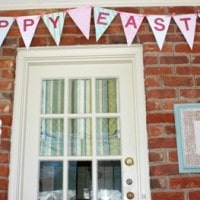 Cereal Box Pennant for Easter