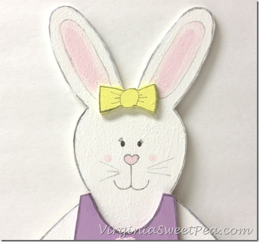Girl Painted Bunny Face