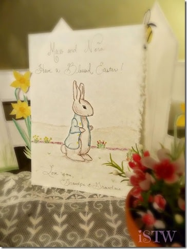 Hand drawn Easter Card with Bunny