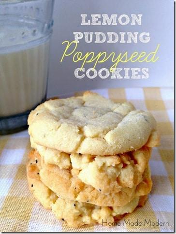 Lemon Pudding Poppyseed Cookies