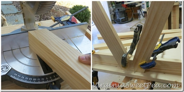 Making the legs for Plow and Hearth Table