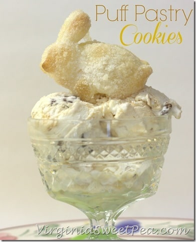 Puff Pastry Cookies - This easy cookie uses just two ingredients and tastes so good!  Use it to top ice cream or serve as individual cookies.  #cookie #easycookie #cookierecipe #puffpastry via @spaula