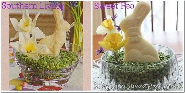 Southern Living and Sweet Pea Easter Centerpieces