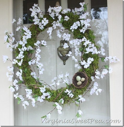 Spring Wreath by virginiasweetpea.com
