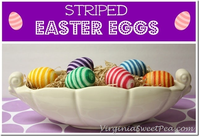 Striped Easter Eggs Using Friendship Bracelet String by virginiasweetpea.com