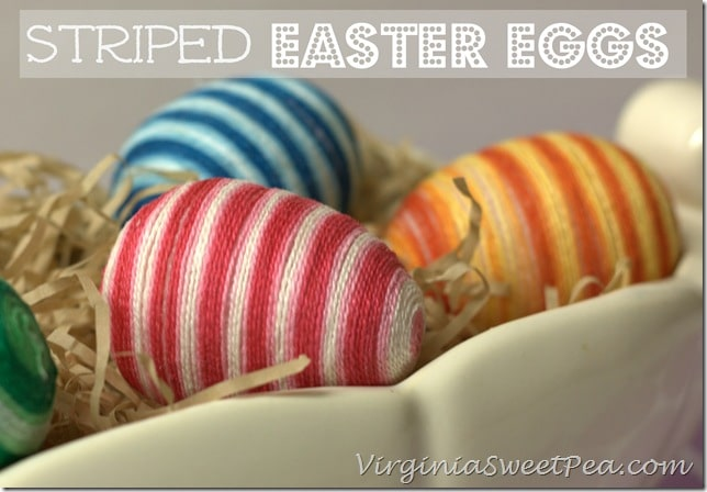 Striped Easter Eggs by virginiasweetpea.com