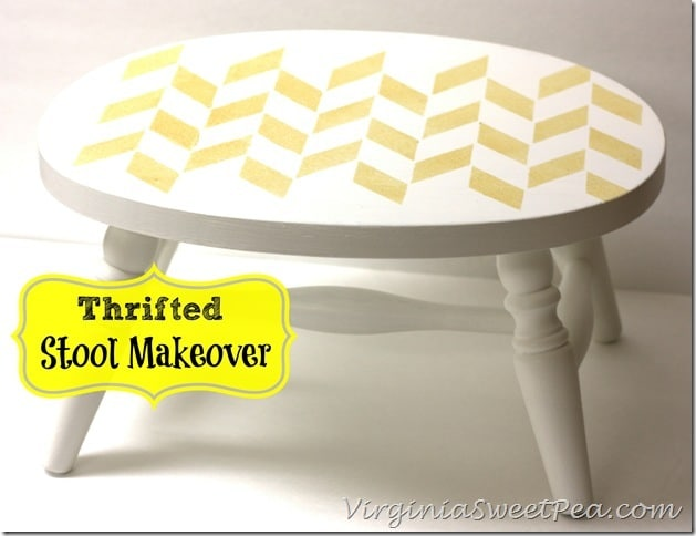 Thrifted Stool Makeover by virginiasweetpea.com